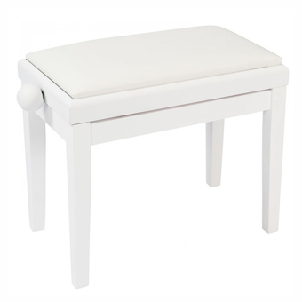 Adjustable Piano Bench - Satin White