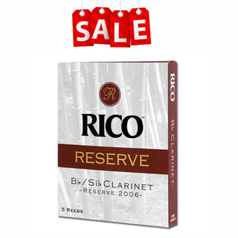 Rico Reserve Clarinet Reeds Strength 3 Pack Of 5 RRP